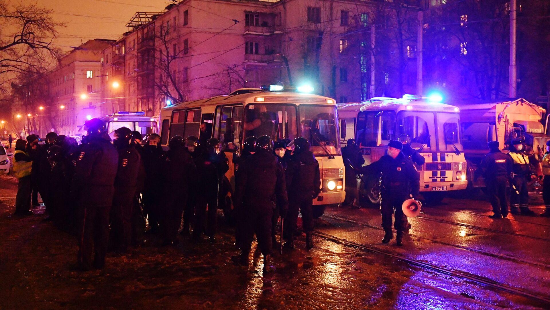 Protesty w Moskwie - Sputnik Polska, 1920, 02.02.2021
