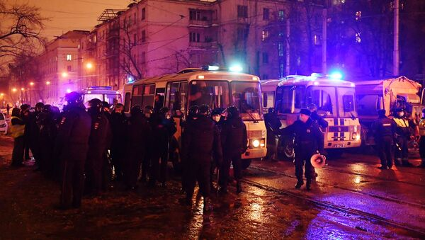 Protesty w Moskwie - Sputnik Polska