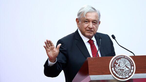 Prezydent Meksyku Andres Manuel Lopez Obrador. Zdjęcie archiwalne - Sputnik Polska