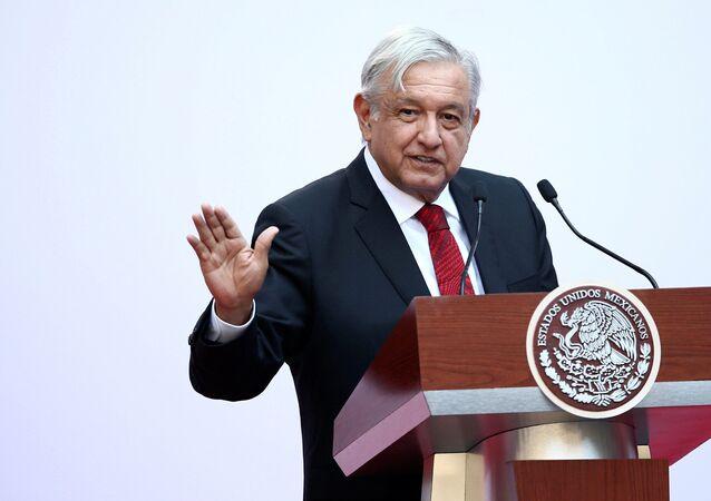 Prezydent Meksyku Andres Manuel Lopez Obrador. Zdjęcie archiwalne
