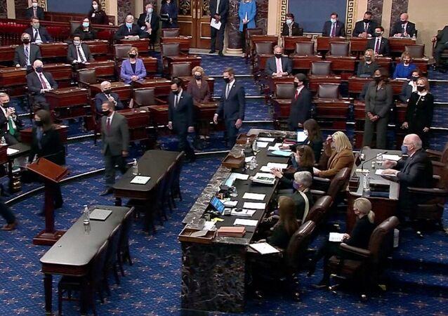 Rezolucja o impeachmencie Trumpa przesłana do Senatu USA