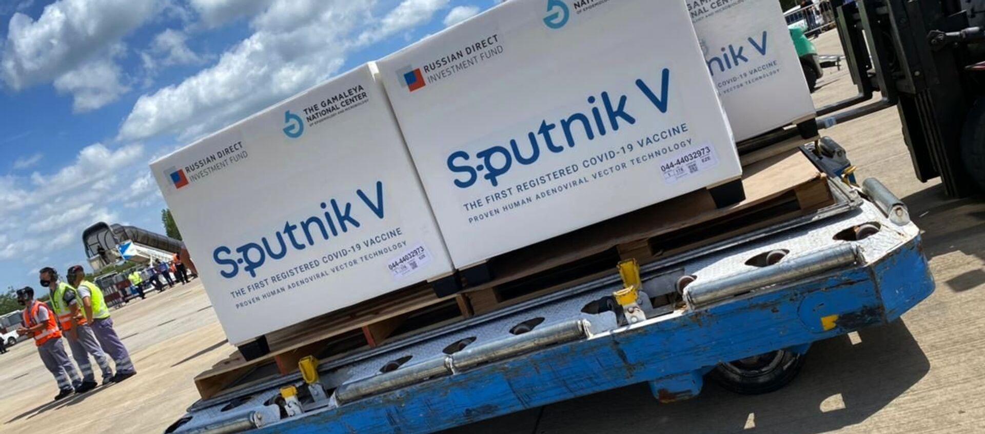 "Rosyjska szczepionka ""Sputnik V"" na lotnisku w Buenos Aires - Sputnik Polska, 1920, 18.02.2021"