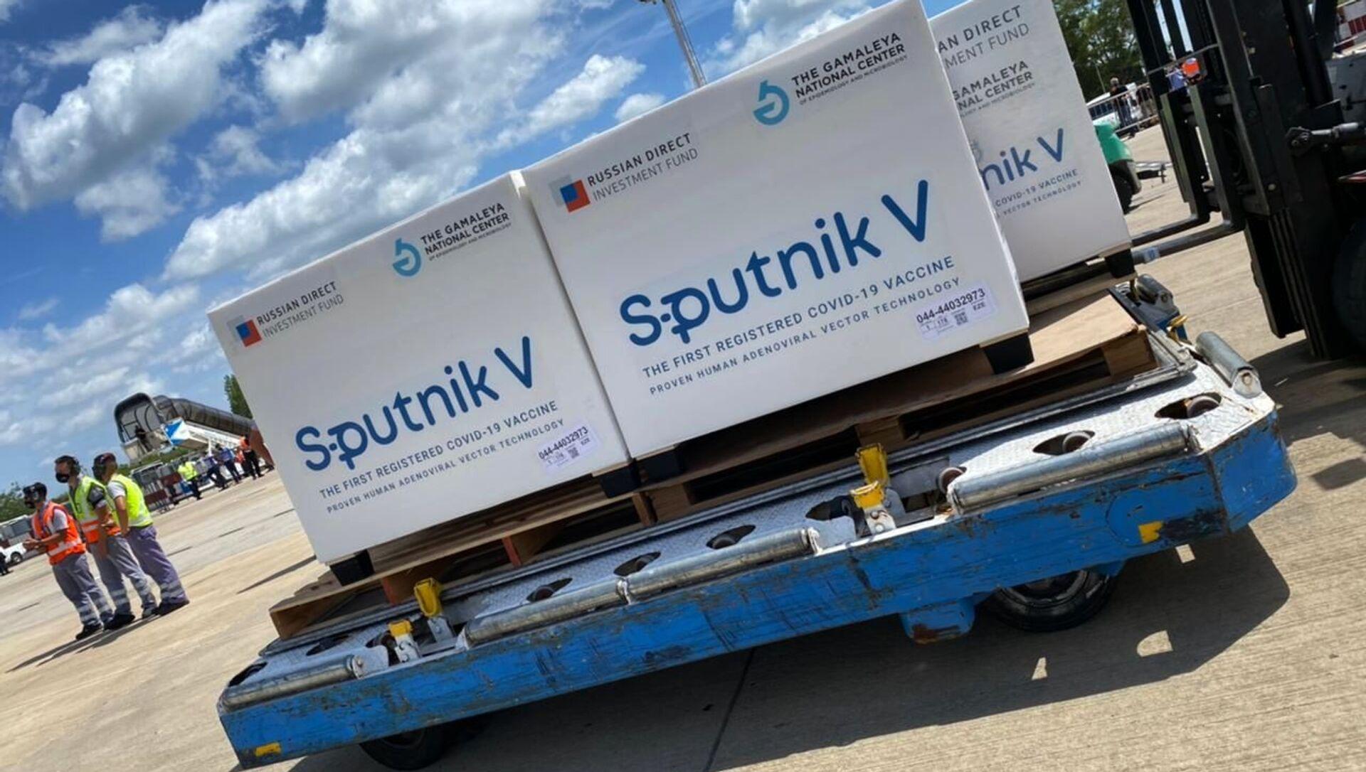 "Rosyjska szczepionka ""Sputnik V"" na lotnisku w Buenos Aires - Sputnik Polska, 1920, 02.02.2021"