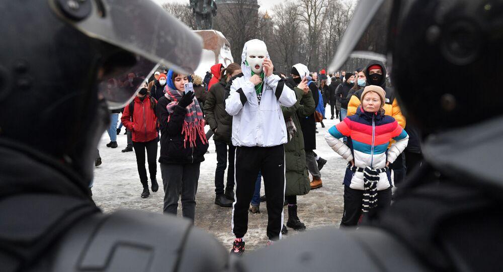 Protesty w Petersburgu