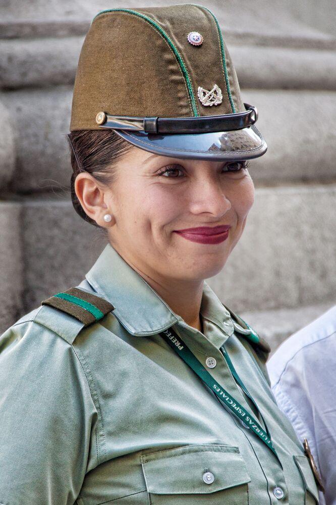 Żołnierka w Santiago w Chile