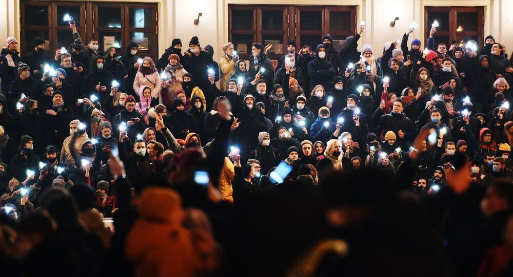 Protest zwolenników Aleksieja Nawalnego w Moskwie.
