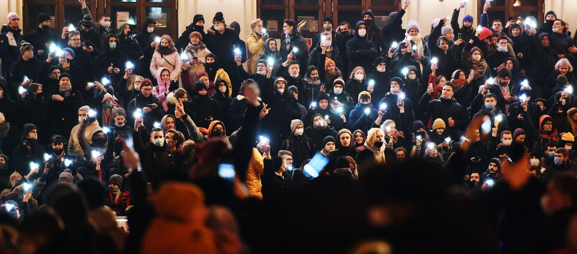 Protest zwolenników Aleksieja Nawalnego w Moskwie.  - Sputnik Polska, 1920, 27.01.2021