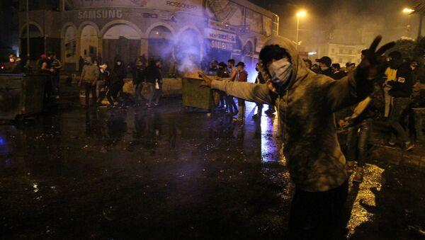 Protestujący przeciwko lockdownowi w Libanie - Sputnik Polska