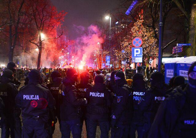 Protesty pod Trybunałem Konstytucyjnym, Warszawa, 28 stycznia 2021 r.
