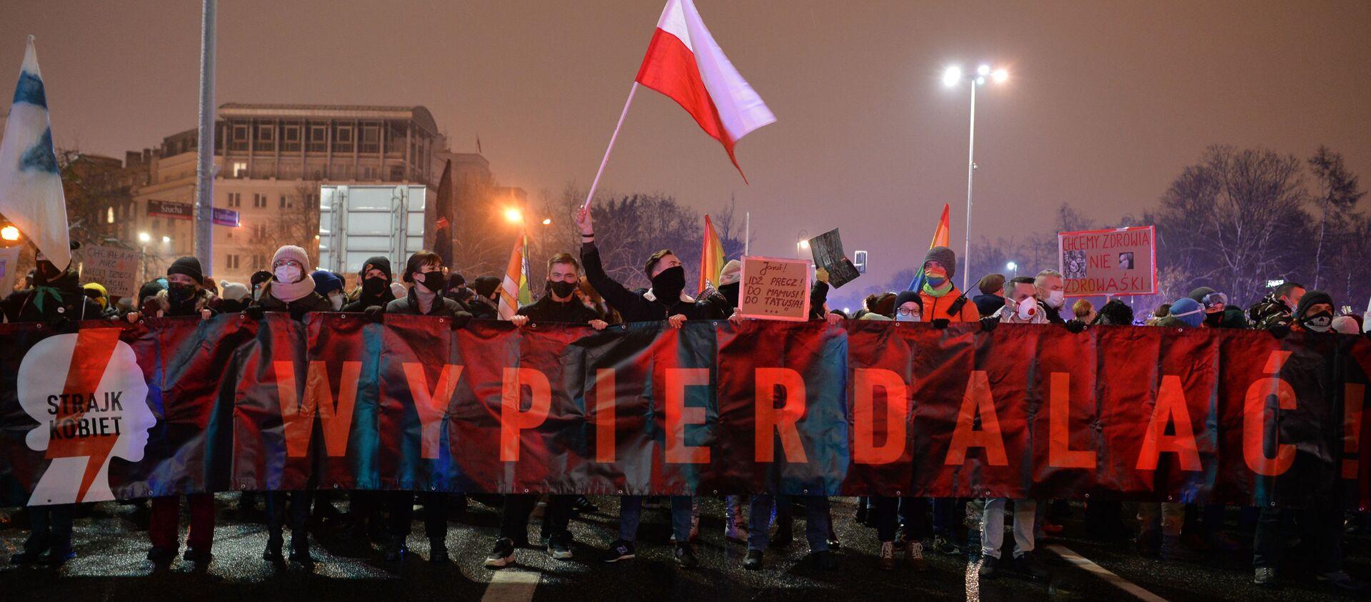 Protesty w Warszawie - Sputnik Polska, 1920, 29.01.2021