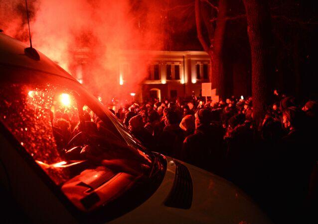 Protest w Warszawie, 28.01.2021 r.