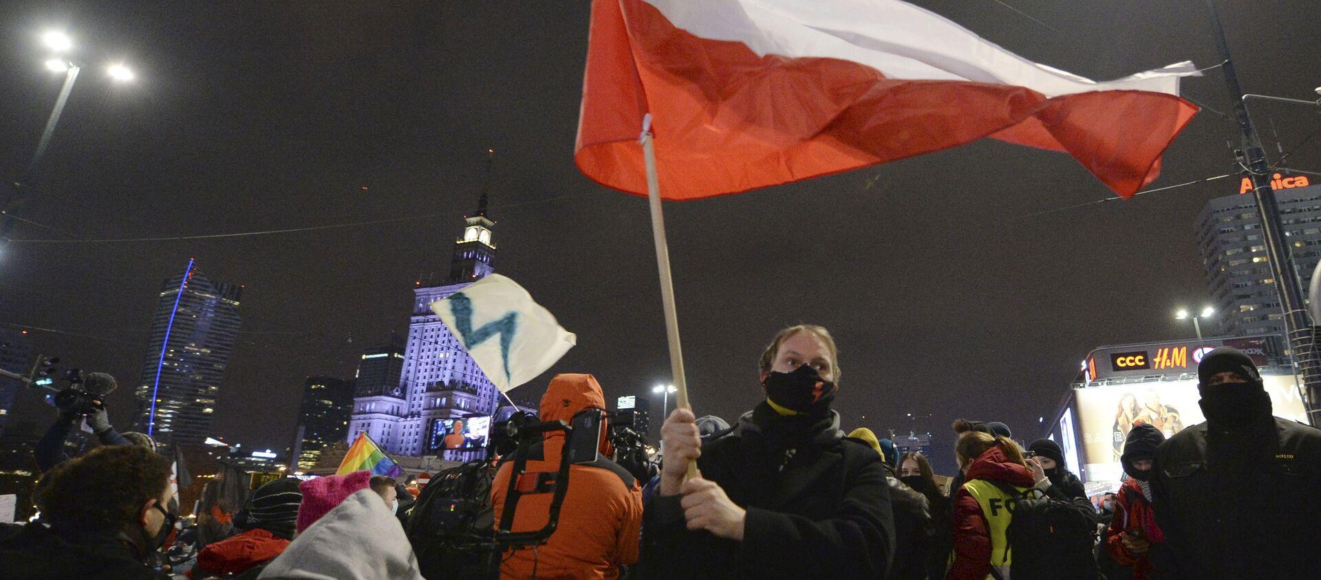 Akcja przeciwko zaostrzeniu prawa aborcyjnego w Warszawie - Sputnik Polska, 1920, 31.01.2021