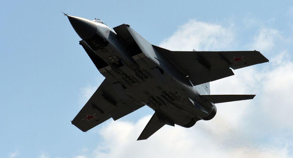 Rosyjski myśliwiec przechwytujący MiG-31.