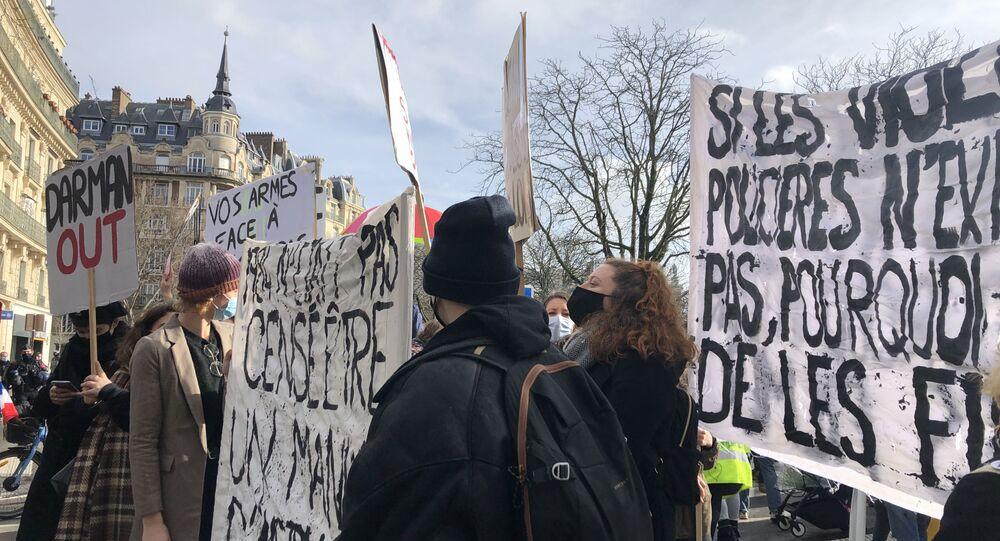 Protesty w Paryżu, 30 stycznia 2021 roku