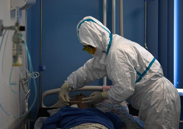 Pandemia koronawirusa SARS-CoV-2.