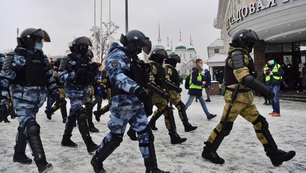 Protesty w Moskwie. - Sputnik Polska