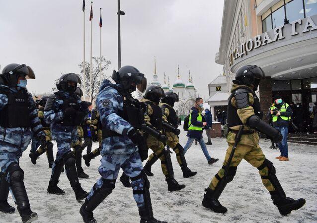 Protesty w Moskwie.