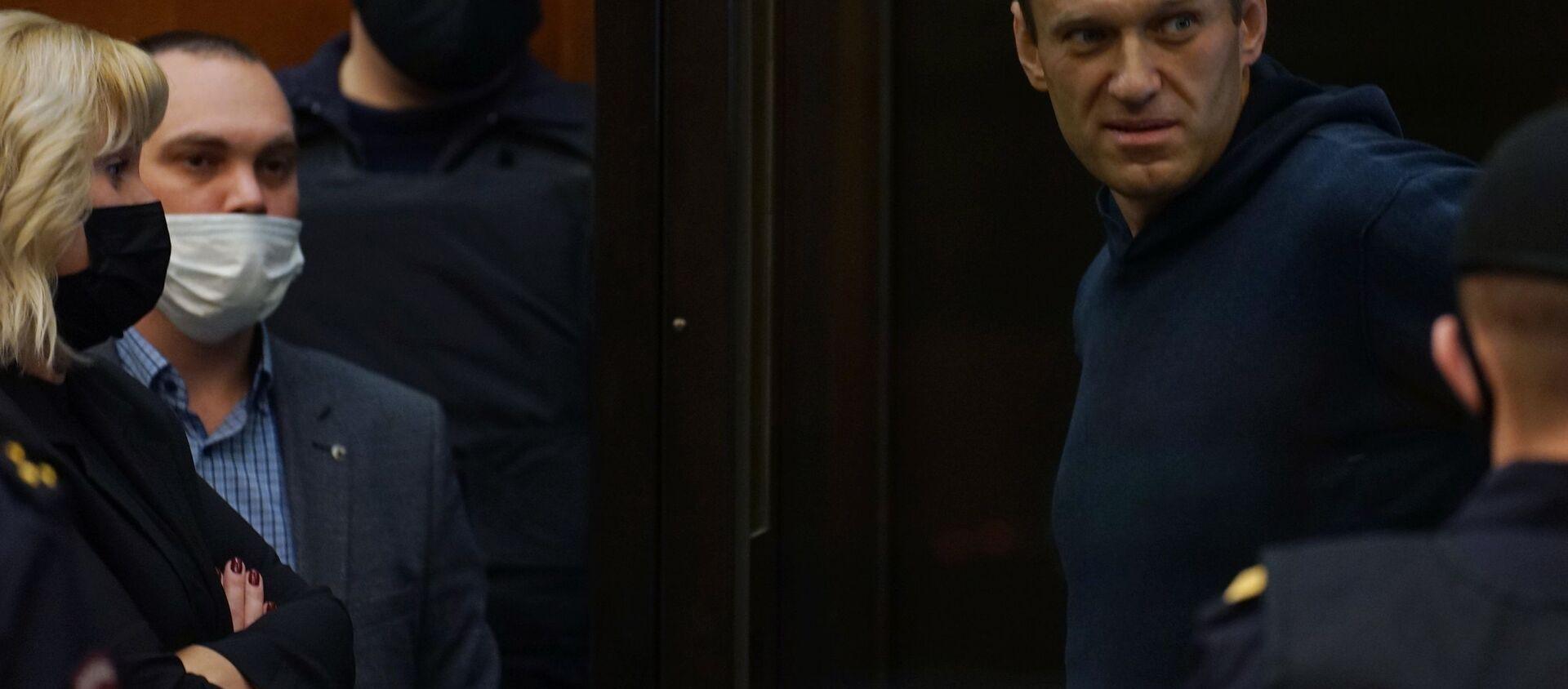 Aleksiej Nawalny w moskiewskim sądzie, 2 lutego 2021 r - Sputnik Polska, 1920, 02.02.2021