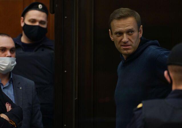 Aleksiej Nawalny w moskiewskim sądzie, 2 lutego 2021 r
