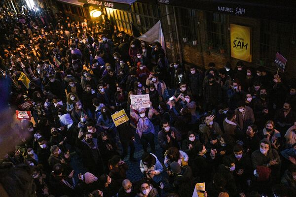 Protesty na ulicach Stambułu - Sputnik Polska