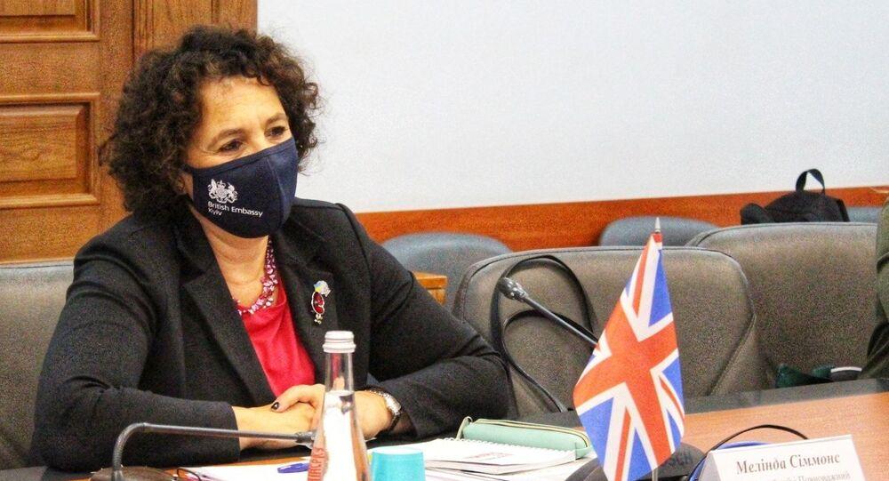 Ambasadorka Wielkiej Brytanii na Ukrainie Melinda Simmons.