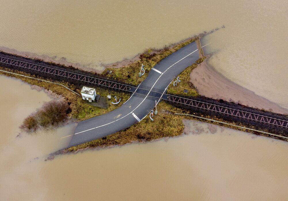 Powódź na zachodzie Niemiec, niedaleko Frankfurtu