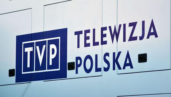 Logotyp polskiego kanału telewizyjnego TVP - Sputnik Polska