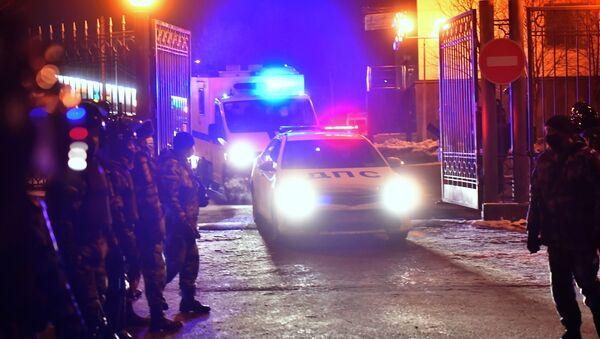 Samochody policyjne przy budynku Sądu Miejskiego w Moskwie - Sputnik Polska