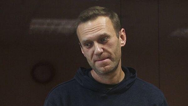Posiedzenie Nawalnego, oskarżonego w sprawie o pomówienie weterana Wielkiej Wojny Ojczyźnianej Ignata Artemienki - Sputnik Polska