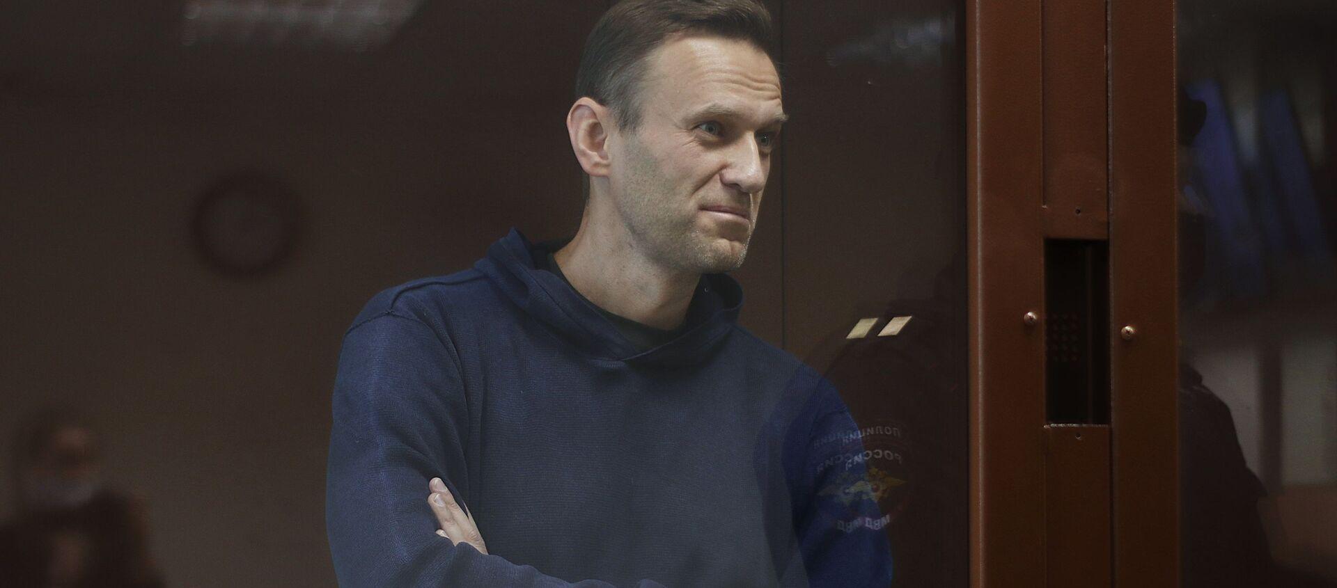 Posiedzenie Nawalnego, oskarżonego w sprawie o pomówienie weterana Wielkiej Wojny Ojczyźnianej Ignata Artemienki - Sputnik Polska, 1920, 17.02.2021