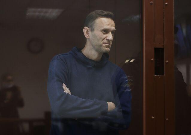 Posiedzenie Nawalnego, oskarżonego w sprawie o pomówienie weterana Wielkiej Wojny Ojczyźnianej Ignata Artemienki.