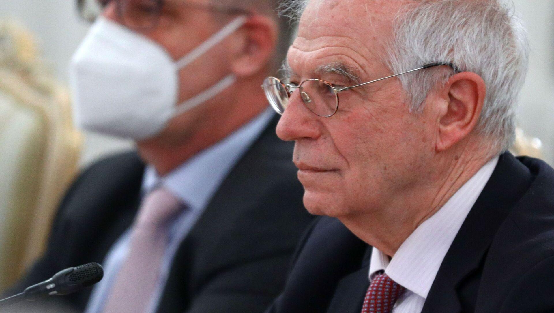 Wysoki przedstawiciel UE ds. zagranicznych i polityki bezpieczeństwa Josep Borrell w Moskwie - Sputnik Polska, 1920, 09.02.2021