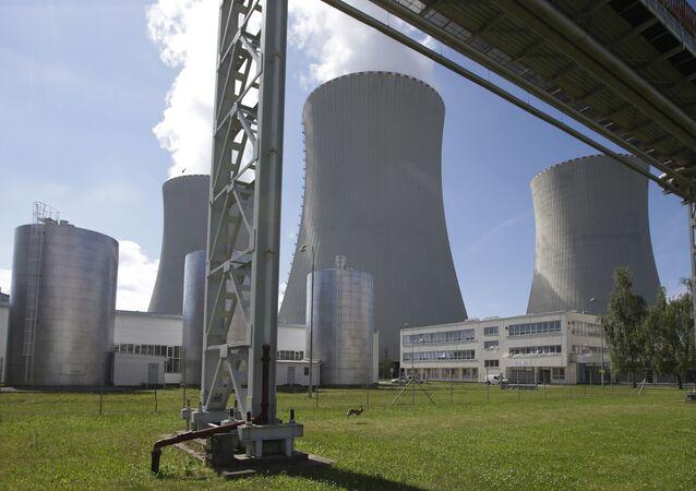 Elektrownia atomowa Temelin w Czechach.