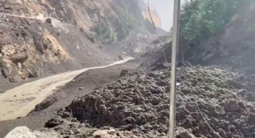 Pęknięcie lodowca w Indiach.