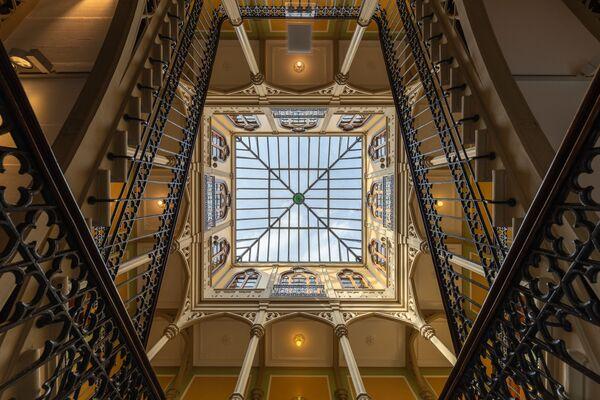 Treppenhaus des Colombischlössle we Fryburgu Bryzgowijskim autorstwa Martina Krafta, zwycięzcy konkursu Wiki Loves Monuments 2020 wśród uczestników z Niemiec - Sputnik Polska