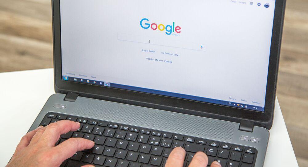 Google Chrome na laptopie