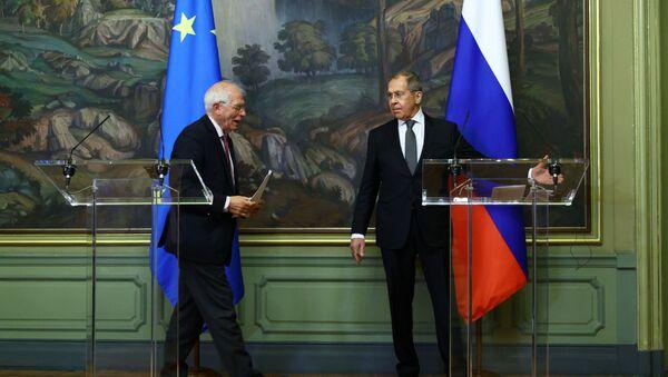 Minister spraw zagranicznych Rosji Siergiej Ławrow i szef unijnej dyplomacji Josep Borrell, Moskwa, 05.02.2021 r. - Sputnik Polska