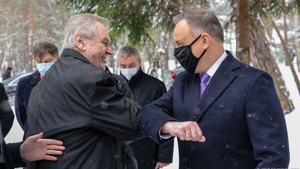Miloš Zeman i Andrzej Duda - Sputnik Polska