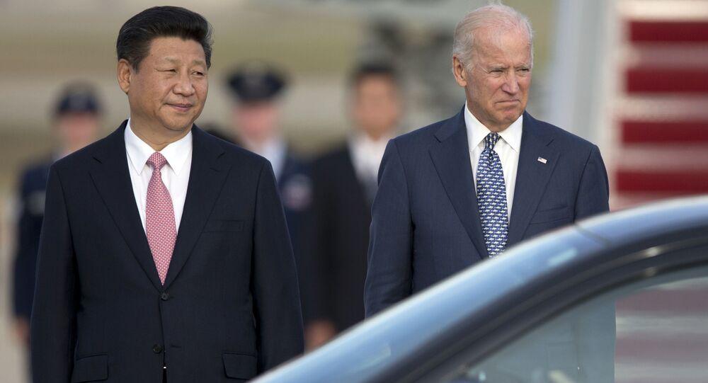 Prezydent Chińskiej Republiki Ludowej Xi Jinping i wiceprezydent Joe Biden w Stanach Zjednoczonych, 2015 rok
