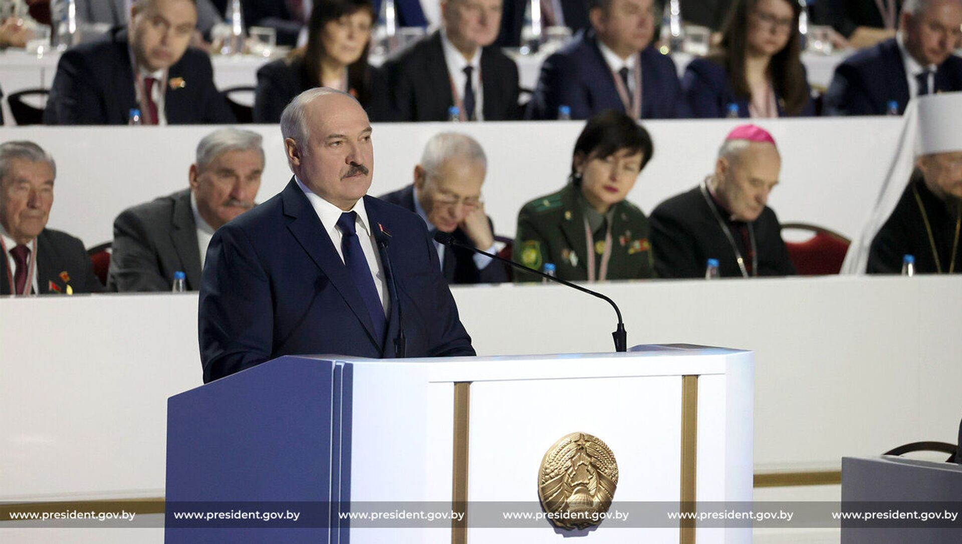 Prezydent Białorusi Aleksandr Łukaszenka na Ogólnobiałoruskim Zgromadzeniu Ludowym w Mińsku. - Sputnik Polska, 1920, 19.03.2021