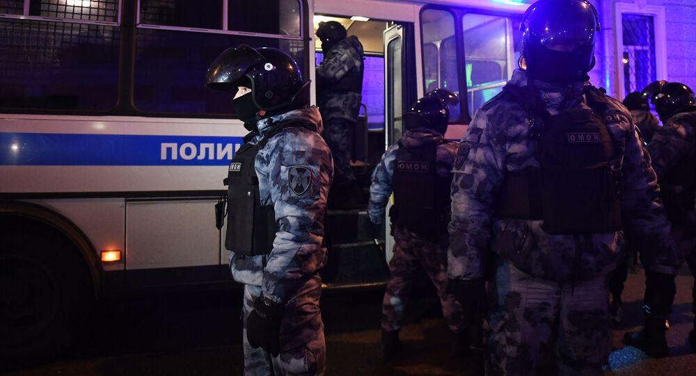 Protesty zwolenników Aleksieja Nawalnego w Moskwie. Działania OMON