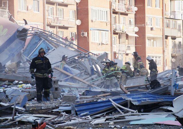 Wybuch w supermarkecie we Władykaukazie