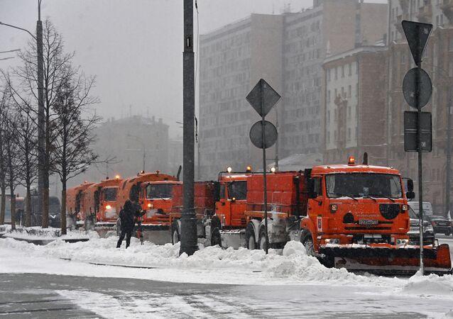 Moskwa pod śniegiem
