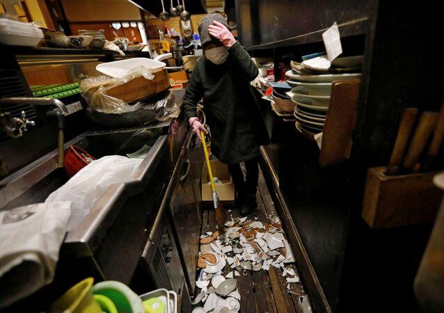 Trzęsienie ziemi w Japonii.