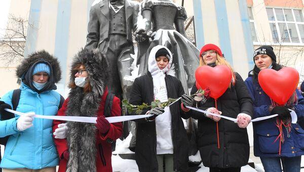 Wiec poparcia dla Julii Nawalnej na Arbacie w Moskwie - Sputnik Polska