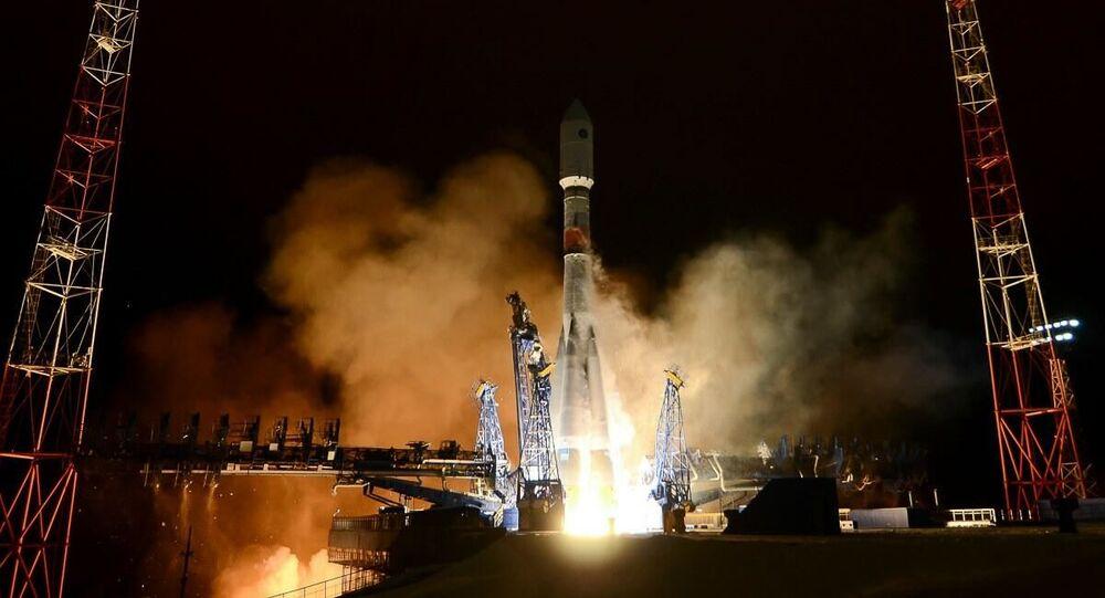 Wystrzelenie rakiety nośnej Sojuz-2 z sondą kosmiczną nowej generacji systemu Glonass-K