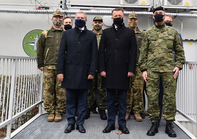 Spotkanie bilateralne Mariusza Błaszczaka Ministra Obrony Narodowej z Panem Tiborem Benkő Ministrem Obrony Węgier