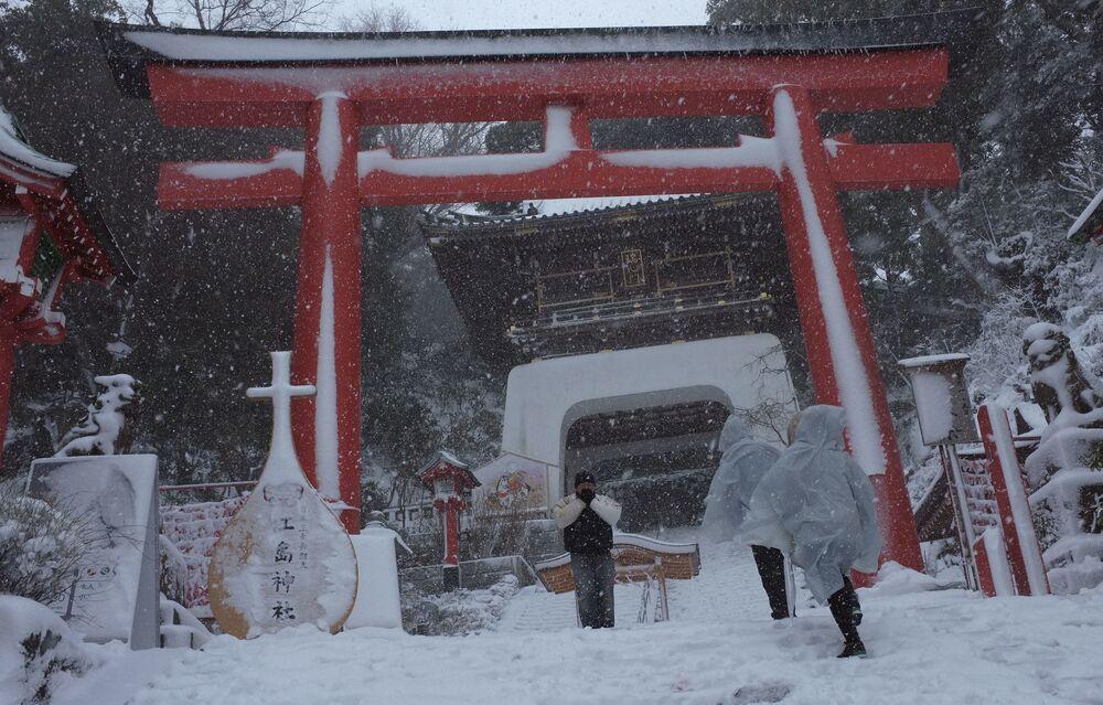 Następstwa najgorszych opadów śniegu od 13 lat w Tokio, luty 2014 rok