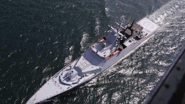 Rosyjska korweta podczas wspólnych ćwiczeń morskich z Iranem na północy Oceanu Indyjskiego  - Sputnik Polska