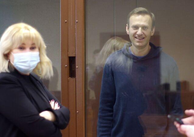 Aleksiej Nawalny w sądzie